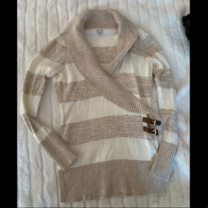 Guess Women's Long Sweater, Light Brown & Cream